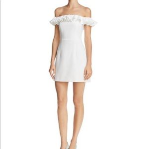 French connection white off the shoulder dress XXS